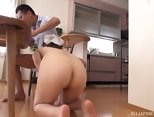 Couple,Japanese,Doggystyle,Natural Tits Wakatsuki Mizuna wants to please her...