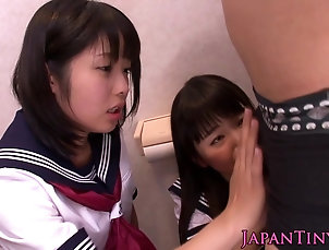 Babes;Japanese;Threesomes;HD Videos;Nippon;Sucking Cock;Tiny;Sucking;Erito Tiny nippon schoolgirls sucking cock...