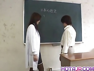 Asian;Cumshots;Hardcore;Facials;Japanese;Fucked;At School;All Japanese Pass Mai Hanano with round cans fucked at...