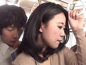 blowjob, fetish, japanese, miniskirt, pantyhose, public sex, touching, upskirt,Takeshi Yamashiro Dressed in a black pantyhose ol...