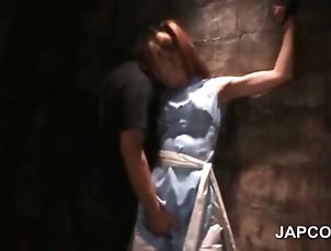 BDSM,Slave Superb asian sex prisoner gets...