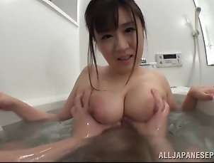Couple,Hardcore,Asian,Japanese,Bath,Natural Tits,Big Tits Luscious Japanese wife delivers a...