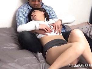 Reality,Asian,Couple,Hardcore,Japanese,Miniskirt Asian bitch sucks a shaft in 69...