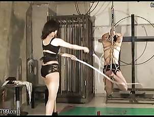 Japanese;Femdom;HD Videos;Slave;Humiliation;Whipping Japanese Femdom Suspended and Whipped