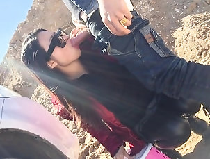 Couple,Outdoor,Brunettes,Glasses,Leather,Clothed Sex,Car Fucking AMATEUR CHINESE SHOW FETISH SLUT FUCK...
