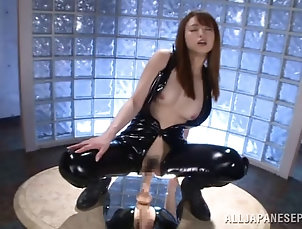 Asian,Japanese,Toys,Leather,Natural Tits,Hairy A hypnotized beauty in a latex body...