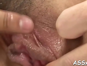 anal;asian;blowjobs;hardcore;japanese;sex-toys;doggy-style Anal toying with deep doggystyle