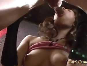Couple,Japanese,Swallow Japanese chick giving a nice jerk off...