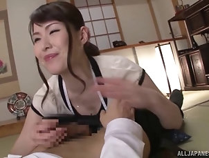 Couple,Hardcore,POV,Asian,Japanese Housewife in an apron gives a...
