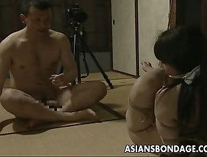 Japanese,Asian,BDSM,Bondage Tied up Japanese hottie fucked with a...