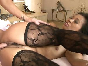 Couple,Hardcore,Pornstars,Asian,High Heels,Stockings,Nylon All that the sweet Lucky Starr needs...