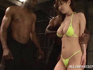 Hardcore,Asian,Japanese,Interracial,Gangbang,Bikini,Big Tits,Natural Tits Hot Asian babe in a bikini enjoying...
