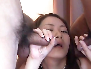 Threesome,MMF,Pornstar,Asian,Japanese,Blowjob,Small tits,Fetish,Doggy style,Facial,Perfect body,Straight Asian babe in bondage orgy