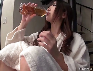 Couple,Hardcore,Asian,Japanese,Natural Tits Lingerie-clad Asian chick with a sexy...