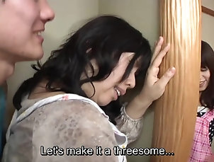 Asian,Japanese Subtitled Japanese risky sex with...