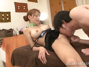 Reality,Miniskirt,Asian,Japanese,Hardcore,Couple,Massage,Handjob Sexy Japanese wife Nami Aino gets her...