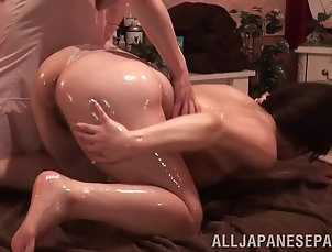 Lesbian,Asian,Japanese,Massage,Oiled It's time for a provocative...