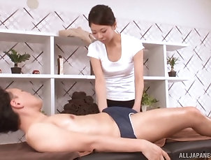 Couple,Hardcore,Asian,Japanese,Oiled,Massage Cute chick from Japan with a shaved...