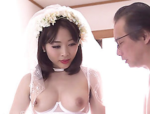 Couple,Old vs Young,Japanese,Brides,Natural Tits First wedding night with Mao Hamasaki...