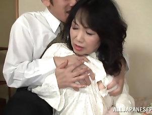 Mature Mature Asian Woman Gets Her Hands...