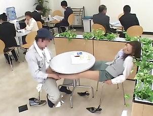 Asian,Couple,Foot Fetish,Hardcore,Japanese,Miniskirt,Public Kinky Japanese chick gives a footjob...