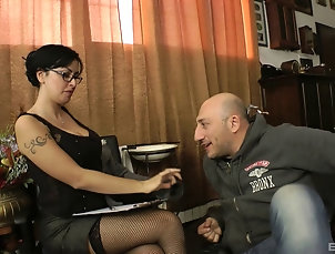 Couple,Hardcore,Pornstars,Brunettes,Glasses,MILF,Cougars,Stockings,Fishnet Asia Morante is an elegant queen...