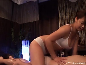Couple,Japanese,Oiled,Massage,Panties,Nice Ass Awesome brunette girl likes to slurp...
