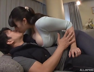 Couple,Japanese,Chubby,Big Tits,Natural Tits Busty Asian mature MILF Yurai Chitose...