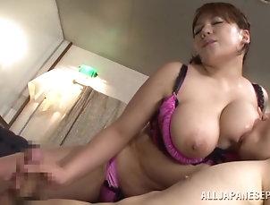 Reality,Couple,Hardcore,Asian,Japanese,Big Tits,Natural Tits,Oiled,Big Nipples,Bra,Panties,Handjob Curvy Japanese With Big Natural Tits...