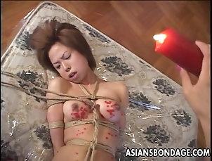 Asian,BDSM,Bondage Asian slut has a hot time as she is...