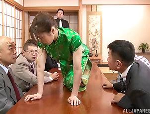 Amateur,Asian,Brunettes,Gangbang,Japanese Stunning Asian hottie gets into a hot...