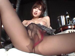 Solo Models,Japanese,Pantyhose,Panties,Masturbation,Close Up,Nylon Solo hottie Shinoda Yuu moans while...