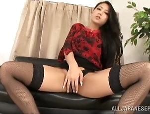Solo Models,Asian,Brunettes,Japanese,Masturbation,Stockings,Fishnet,Long Hair,Thong,Big Tits Gorgeous Japanese angel Koi  Azumi...