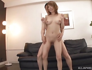 Couple,Japanese,Natural Tits Foxy Japanese chick Rika Hoshimi...