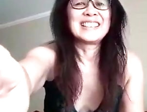 Asian;Mature;MILF;Lingerie;Cougar;Sexy;Mother;Hottest;Mom;Green;Momma Sexy Green on Momma D