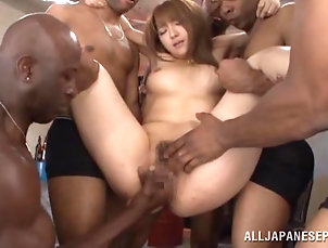 Asian,Hardcore,Japanese,Reality,Bikini,Interracial,Gangbang,Long Hair,Oiled Fabulous Shiori Kamisaki Gets...