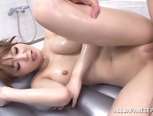 Nice Ass,Natural Tits,Oiled,Massage,Asian,Couple,Hardcore,Japanese An erotic massage turns into oily sex...
