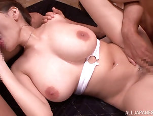Threesome,Hardcore,MMF,Asian,Japanese,Panties,Oiled,Natural Tits,Big Tits They cannot keep their hands off the...